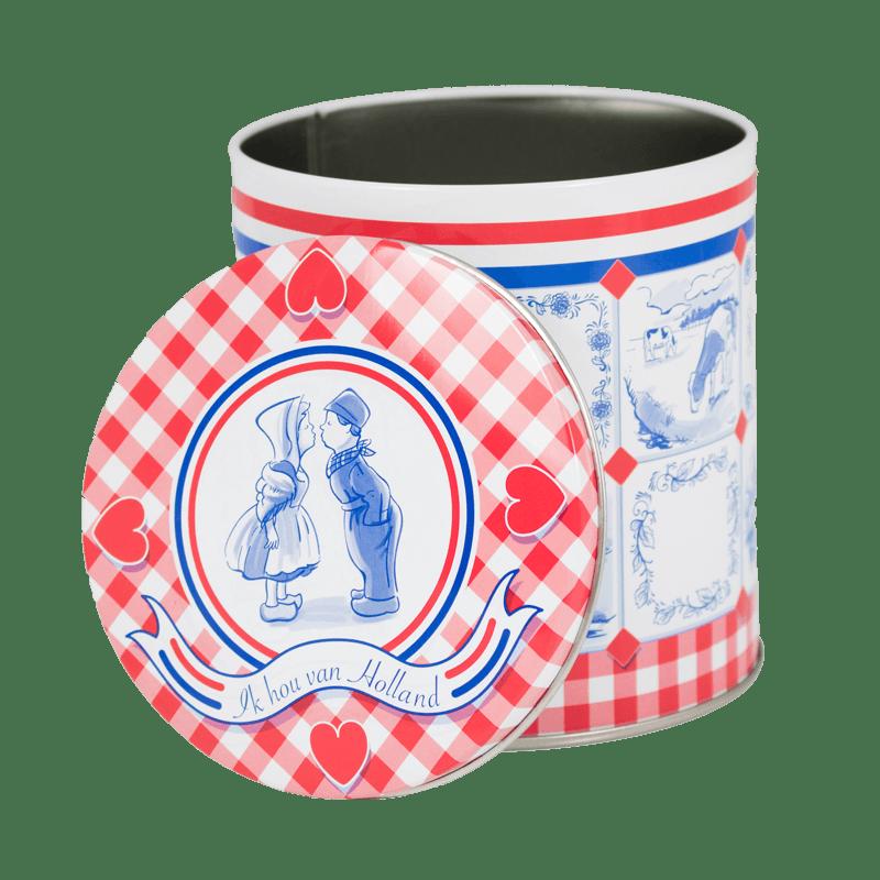 EMPTY ORIGINAL DUTCH WAFFLE CANS RED