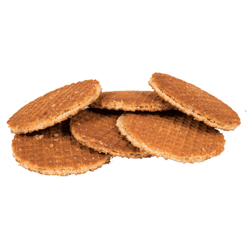 TINY DUTCH WAFFLES IN TRANSPARANT BAGS